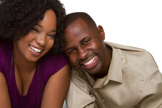 Smiling Black Couple