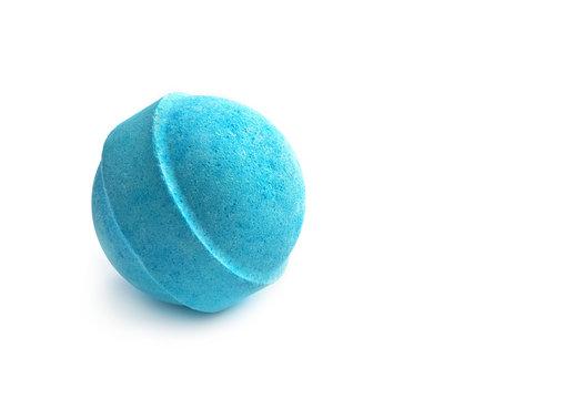 Single blue bath bomb