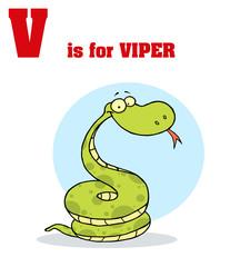 Funny Cartoons Alphabet with Text-v