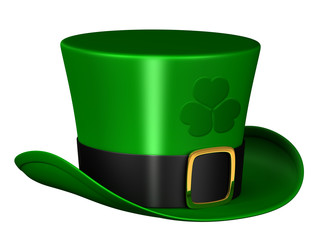 A render of an isolated leprechaun hat