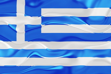 Flag of Greece wavy