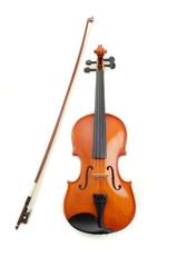 violino e archetto visto di fronte