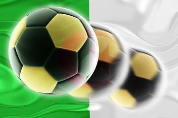 Flag of Algeria wavy soccer