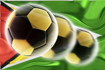 Flag of Guyana wavy soccer