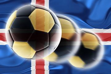 Flag of Iceland wavy soccer