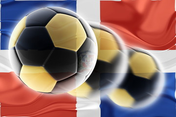 Flag of Dominican Republic wavy soccer