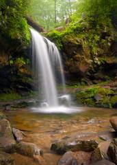 Grotto falls Smoky Mountains waterfalls nature landscape