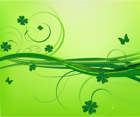 Floral st.Patrick's background