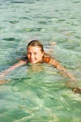 Photo of swimming girl
