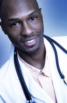 African American doctor portrait