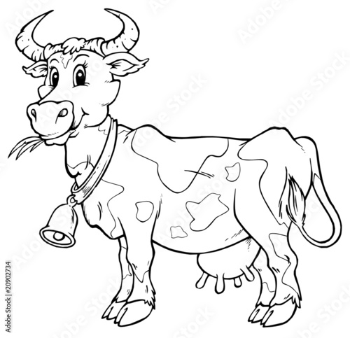 760 Coloring Pages Of Cartoon Cows Download Free Images