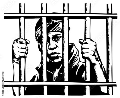 Quot Young Man Behind Bars Quot Stock Image And Royalty Free