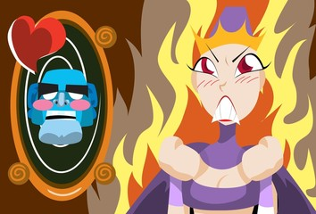 Queen Burning With Anger And Jealousy