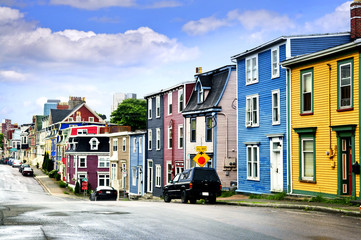 Colorful houses in St. John's