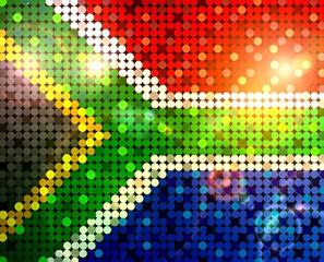 glitzernde pailetten flagge südafrika