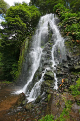 Waterfall in Sao Miguel Island - Azores -  Portugal - Europe