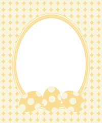 Easter greeting card with frame