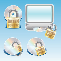 Datenschutz Icons