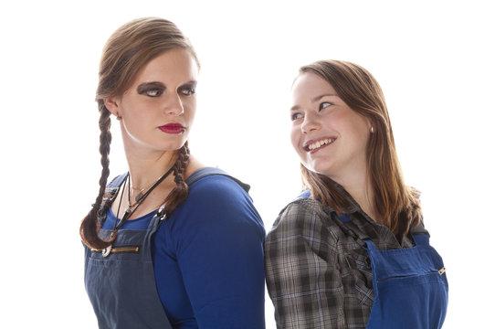 Zwei Mädchen im Blaumann, Azubis