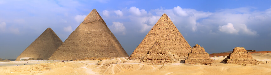 Great Pyramids, located in Giza.