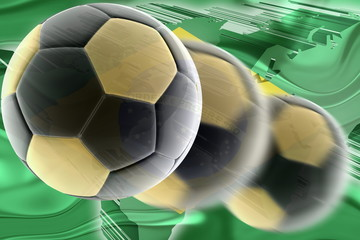 Flag of Brazil wavy soccer