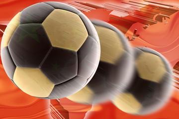 China flag wavy soccer