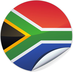 Sticker de l'Afrique du Sud (détouré)