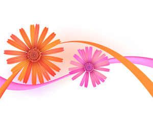 Abstract vector flowers.