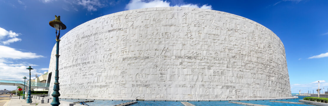 Royal Library of Alexandria, Egypt. Back view
