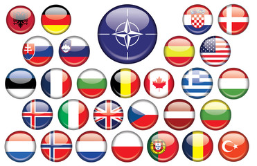 Chapas banderas paises OTAN