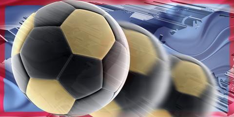 Flag of Guam wavy soccer