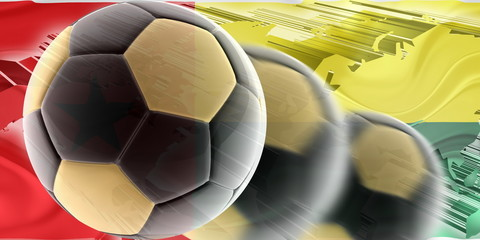 Flag of Guinea Bissau wavy soccer