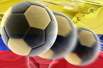 Flag of Colombia wavy soccer