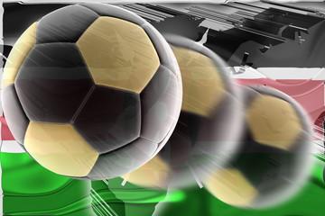 Flag of Kenya wavy soccer