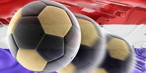 Flag of Paraguay wavy soccer