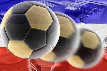 Flag of Serbia and Montenegro wavy soccer