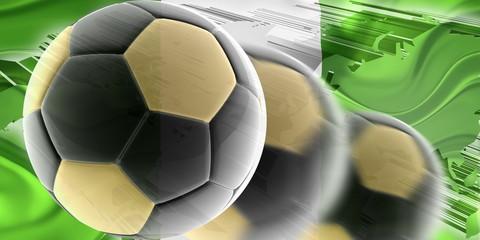 Flag of Nigeria wavy soccer