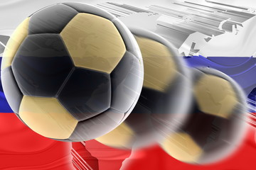 Flag of Russia wavy soccer
