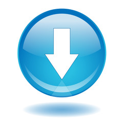 """DOWNLOAD"" web button (arrow down internet online)"
