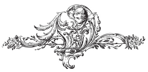 antique floral engraving (vector)