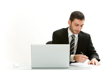 Manager unterschreibt Vertrag
