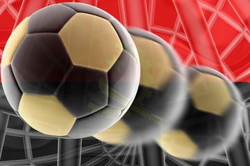 Flag ofAngola wavy soccer