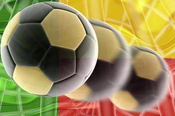 Flag of Benin wavy soccer