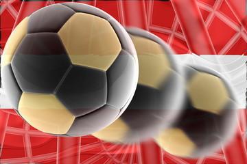 Flag of Austria wavy soccer