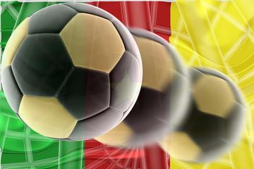 Flag of Cameroon wavy soccer