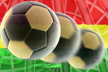 Flag of Bolivia wavy soccer
