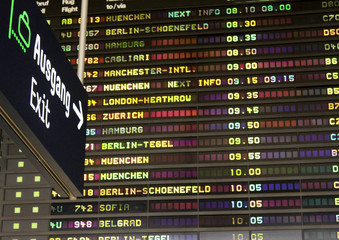 Airport timetable.