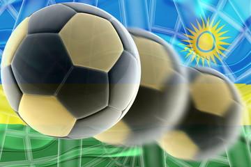 Flag of Rwanda wavy soccer