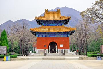 Foto op Plexiglas Beijing China, Beijing the Ming Tomb Shisanling.