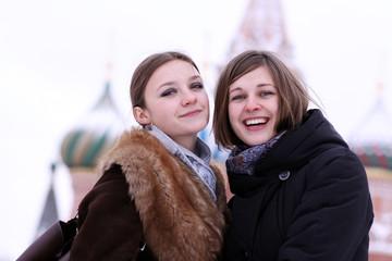 two winter girls